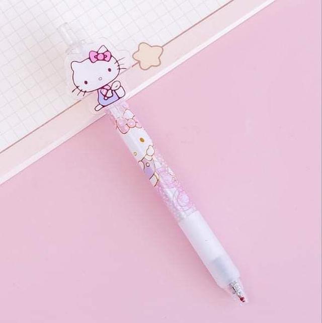 (預購S) G1156 - 三麗鷗家族壓克力按壓式中性筆(一組6支)