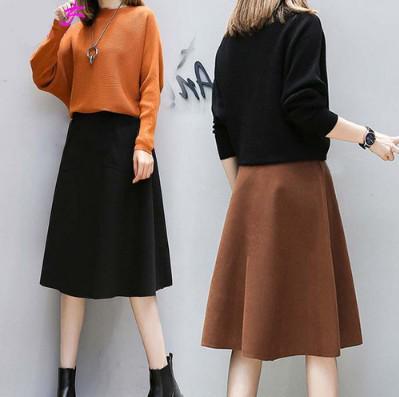 11 流行款 M-3XL 韓版 大碼 顯瘦連衣裙套裝(2色)