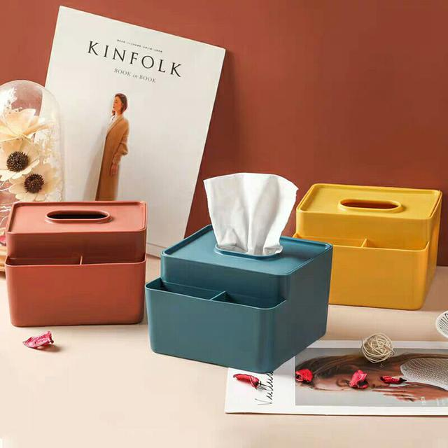 北歐風桌面收納面紙盒