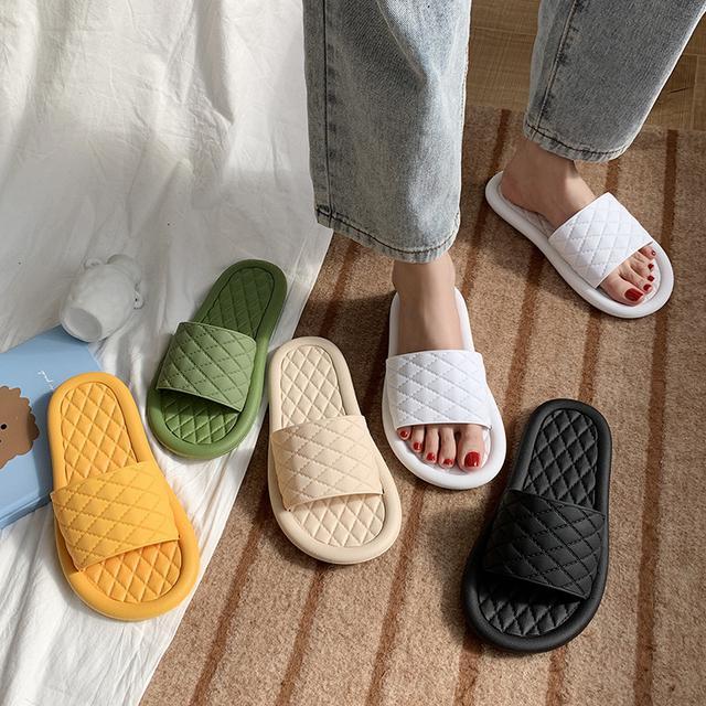(現貨)菱格紋居家拖鞋