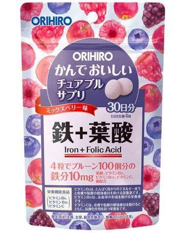 日本ORIHIRO鐵+葉酸營養補充錠