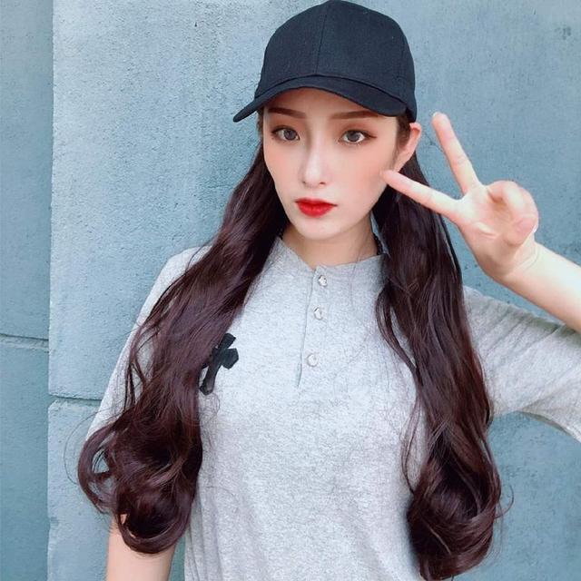 (預購s+) A500-網紅波浪假髮帽