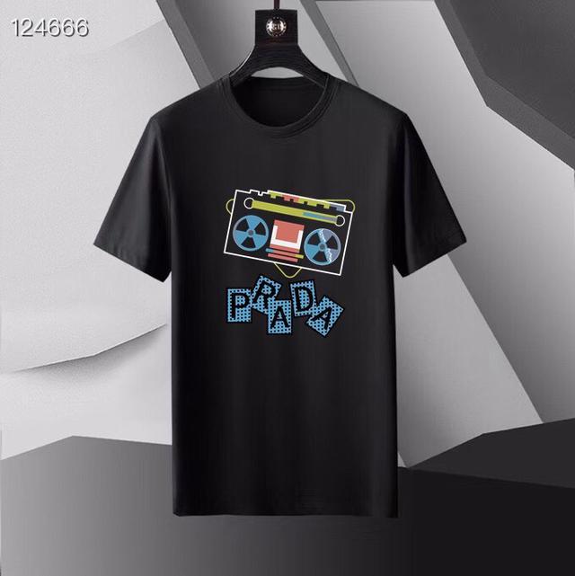 普拉達 2021春款首發 專櫃最新款絲光短袖T恤