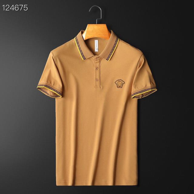 VERS*CE 範思* 2021年夏季新款絲光棉短袖POLO衫
