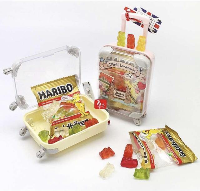 韓國HARIBO行李箱小熊軟糖 包/30g (盒/8個裝)