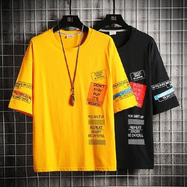 06 M-4XL 優質日系潮牌短袖T恤(4色)