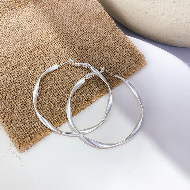 S925 歐美金屬圓圈耳環