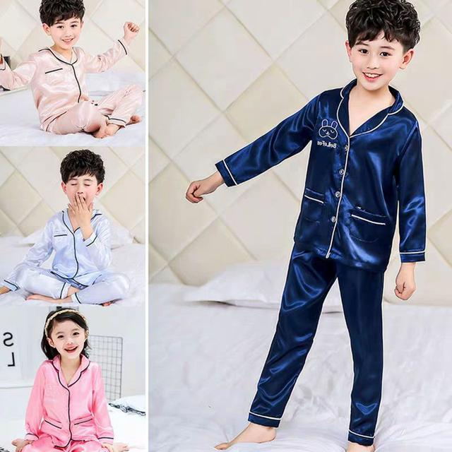 兒童睡衣居家服套裝薄款長袖空調服中大童透氣LSJ19073003