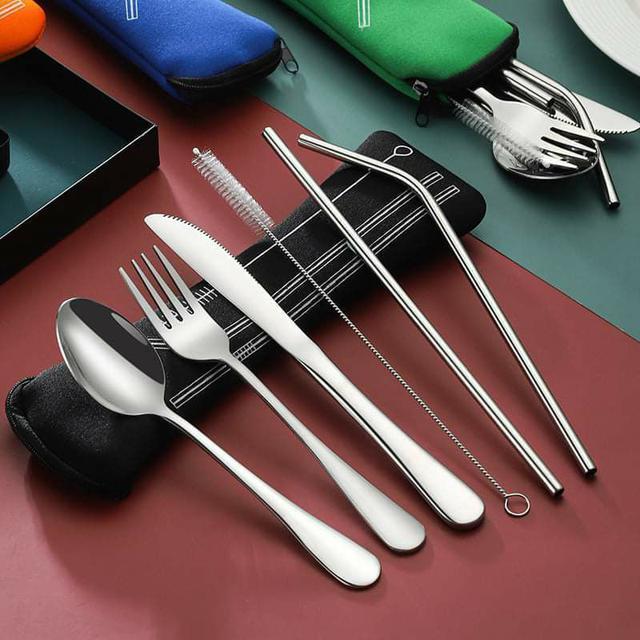 (預購S) G741 - 超值不鏽鋼餐具7件組