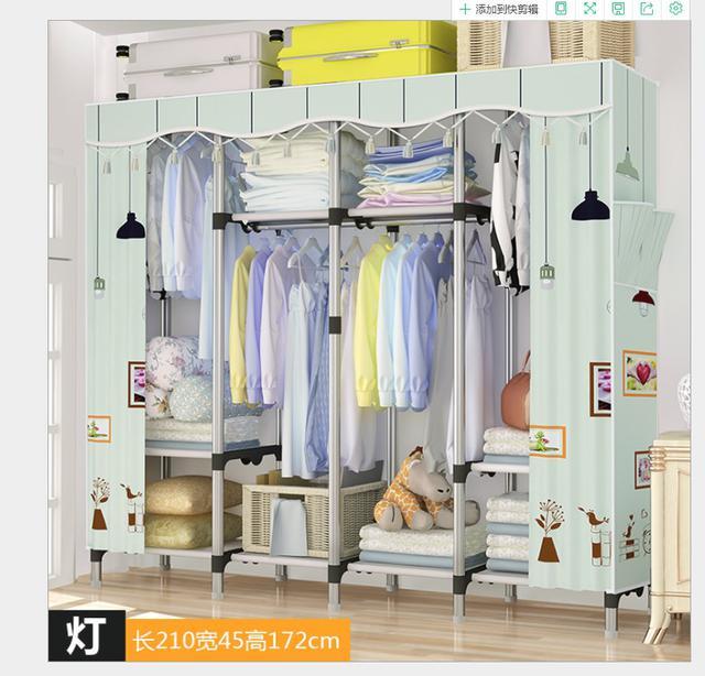 166*新款升級鋼架 簡易衣櫃 布藝布衣 收納櫃