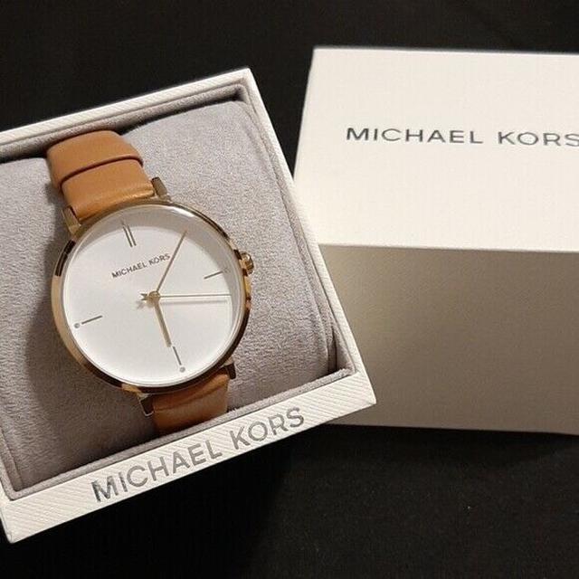 Michael Kors 簡約咖啡真皮錶