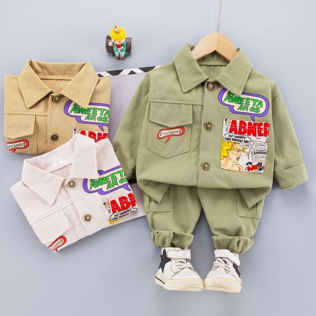 🍒預購/春款寶寶工装小童韓版兩件套(未)