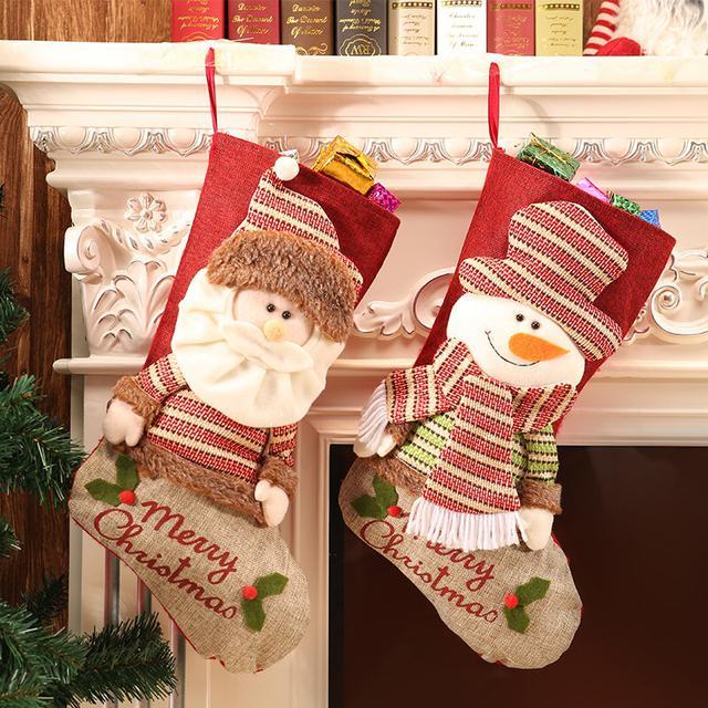 爆款立體玩偶聖誕襪