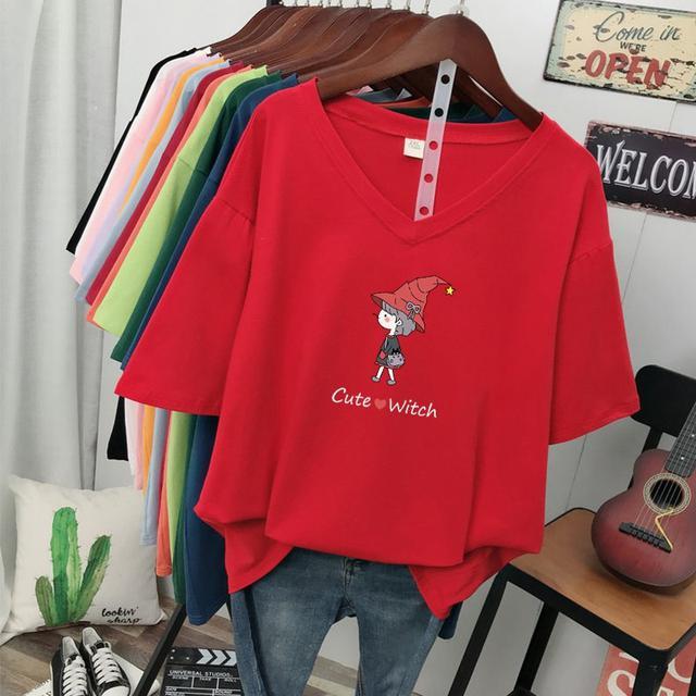 (預購)夏裝新款寬鬆大碼女裝纯棉短袖t恤