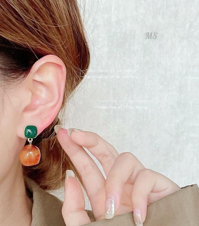 💖預購💖復古暈染樹脂耳環