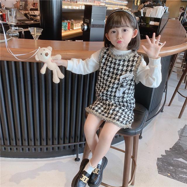 兒童千島格裙網红女寶寶衣服(貝)