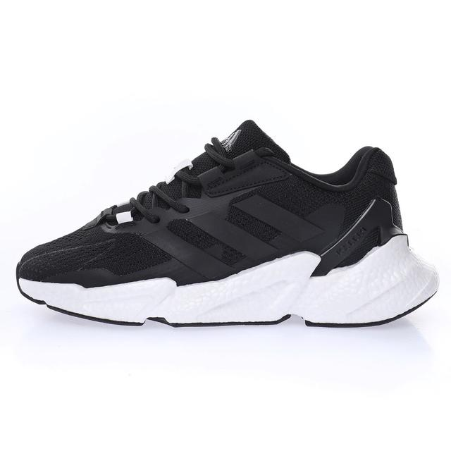 JET升級版爆米花高彈復古休閒運動百搭跑鞋「針織黑白」S23669