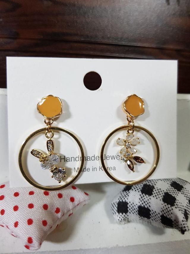 🇰🇷可愛兔子鋯石造型耳環