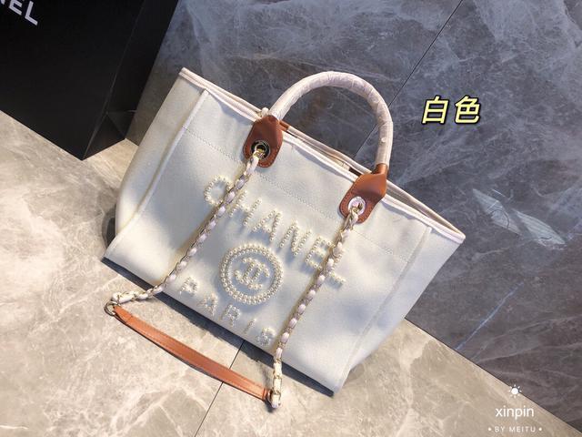 香奈兒Chanel年度最美超仙的珍珠刺繡沙灘包