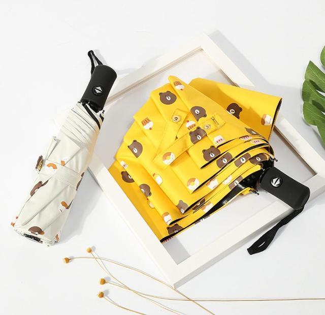 【預購】(限時優惠) 熊大純色摺疊傘