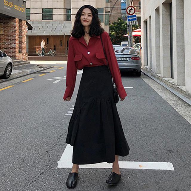 時髦洋氣半身連衣裙子胖mm大碼兩件套装(F廠)