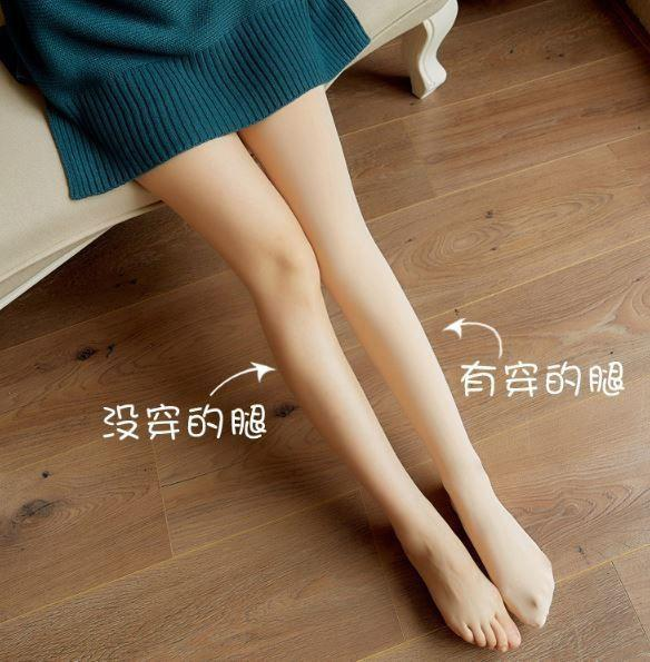預購商品 12/07 結單  辣妹必備 加絨加厚假透膚美腿襪