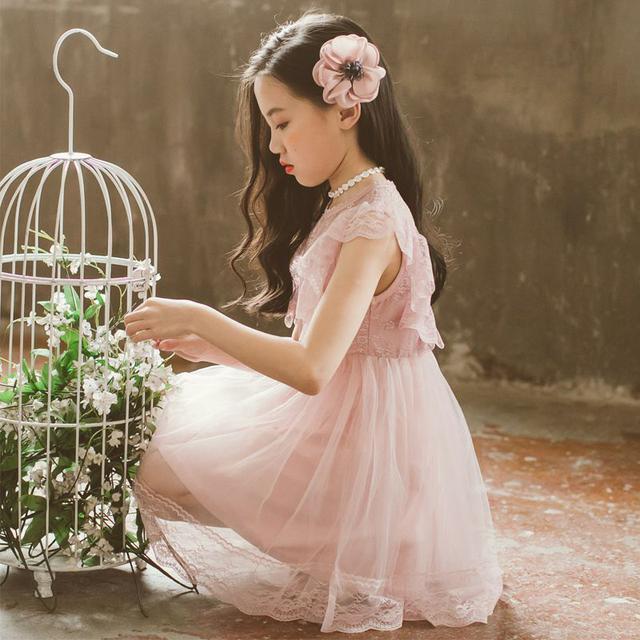 女童夏裝連衣裙女寶寶背心裙2021新款代發韓版童裝兒童蕾絲公主裙