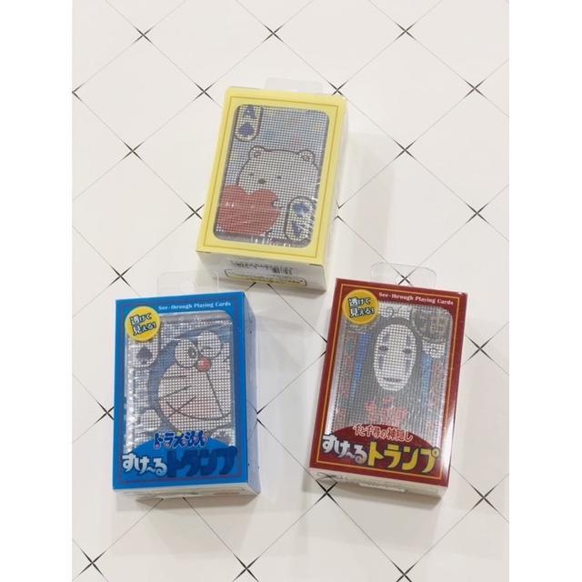 日本熱門卡通圖案透明撲克牌系列