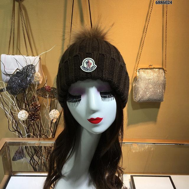 蒙口毛線帽子👒簡約大氣日系毛線針織帽,俏皮可愛‼️狐狸毛球