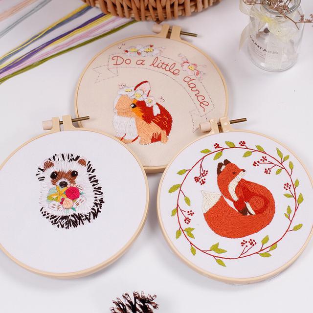 動物手工刺繡材料包 手工DIY 歐式刺繡套件針線套裝