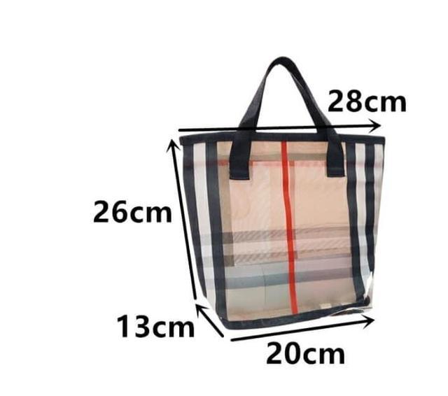 格紋網紗提包