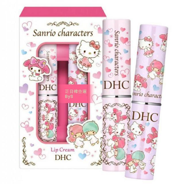 限量日本 DHC 純橄欖護唇膏-三麗鷗限定版 1組2入