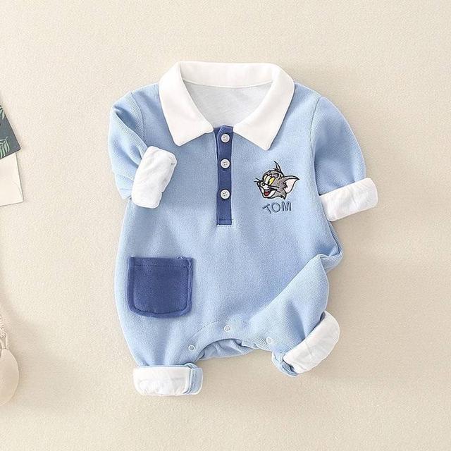 🔹寶寶長袖 秋冬裝 連身衣 嬰兒 純棉 小男童