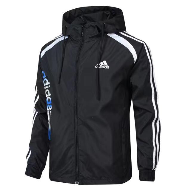 男士運動風衣春秋季新款夾克外套連帽休閒跑步戶外健身衣