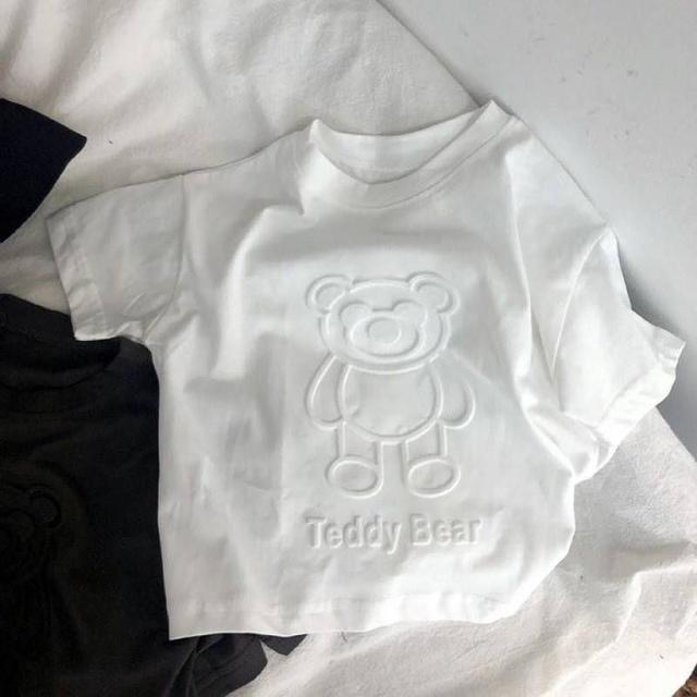 【現貨】韓版立體小熊印花上衣