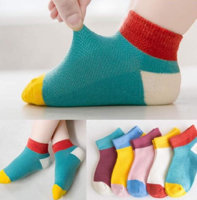【最後現貨】舒適兒童襪(拼接)