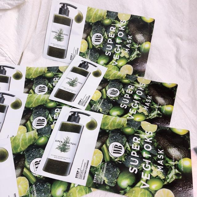 韓國 WB 蔬果綠茶洗面乳2ml + 氧氣面膜 (單片)