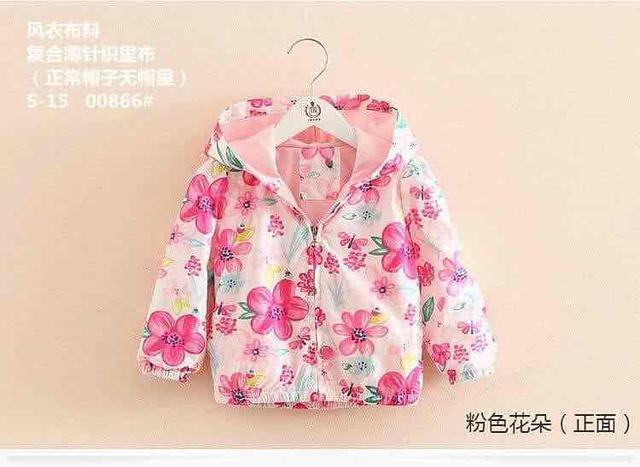 現貨 ❤️童裝秋款粉色花朵外套