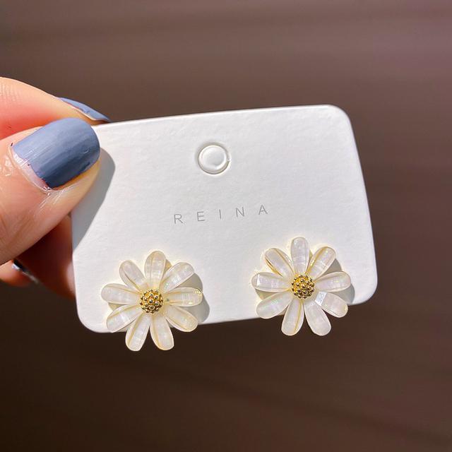 S925 韓國氣質花朵耳環