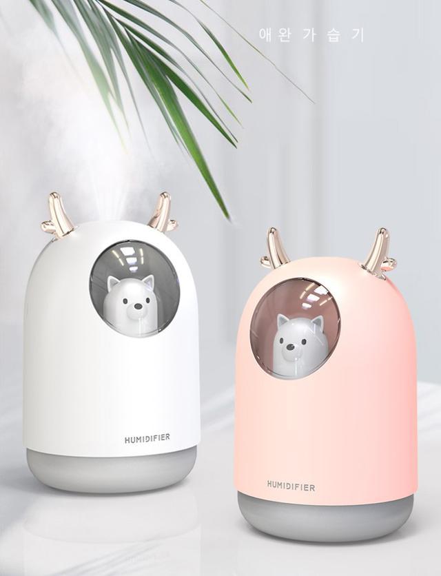 太空艙寵兒七彩夜燈USB空氣淨化霧化加濕器-G4006