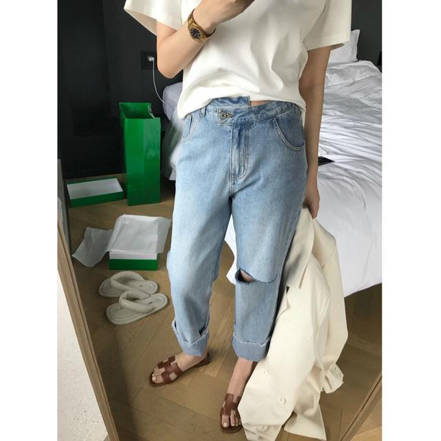 ❤️韓版顯瘦直筒薄款牛仔九分褲
