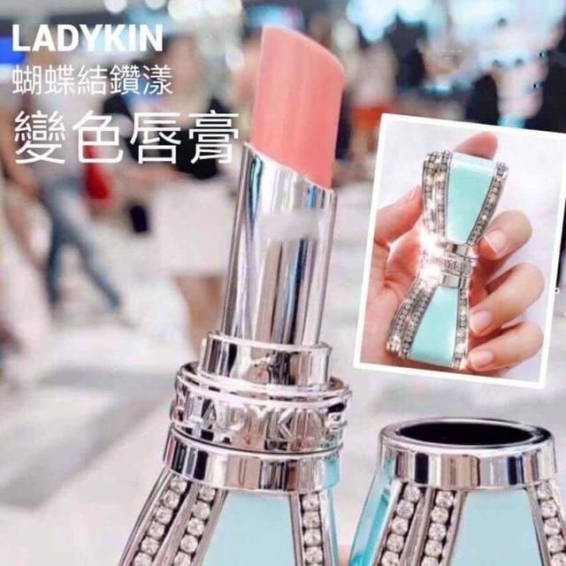 韓國Ladykin蝴蝶結變色潤唇膏