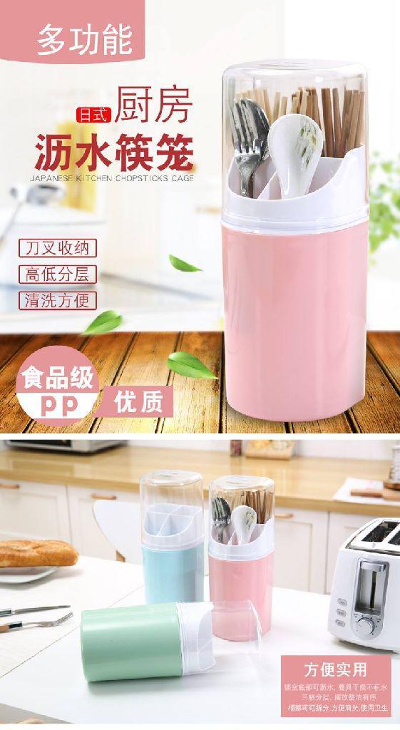 日式廚房瀝水筷桶