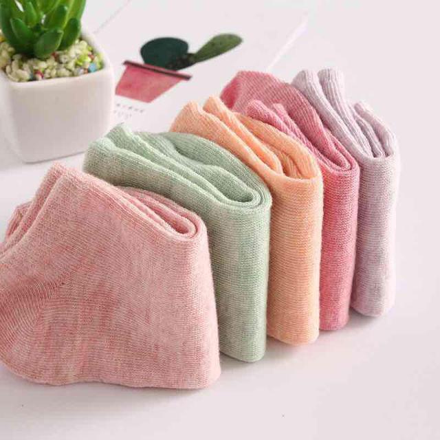 外銷日本超高CP值糖果色女生淺口船襪