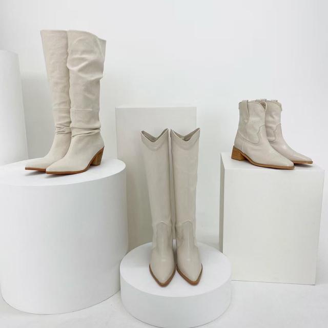 正韓個性尖頭西部靴