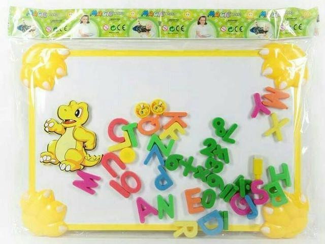 ✅現貨⭐恐龍造形寫字白板(附贈英文字母磁鐵+白板筆)