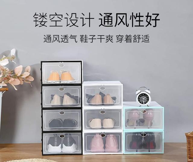(預購s+) A163-收納透明翻蓋抽屜鞋盒(一組3個)