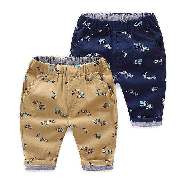 兒童七分褲2020童裝夏裝新款男孩休閒小褲子中小童時尚印花褲子潮