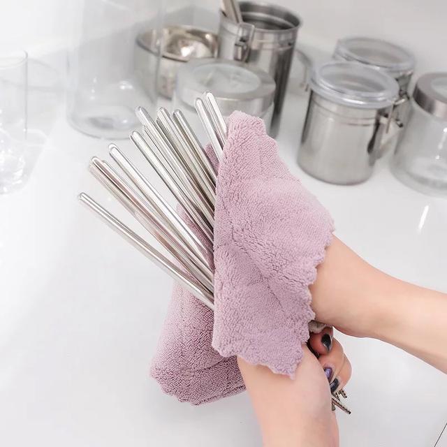 素色百潔布雙面抹布 廚房洗碗巾 洗碗布超吸水抹布 家務清潔抹布 一擦即乾淨