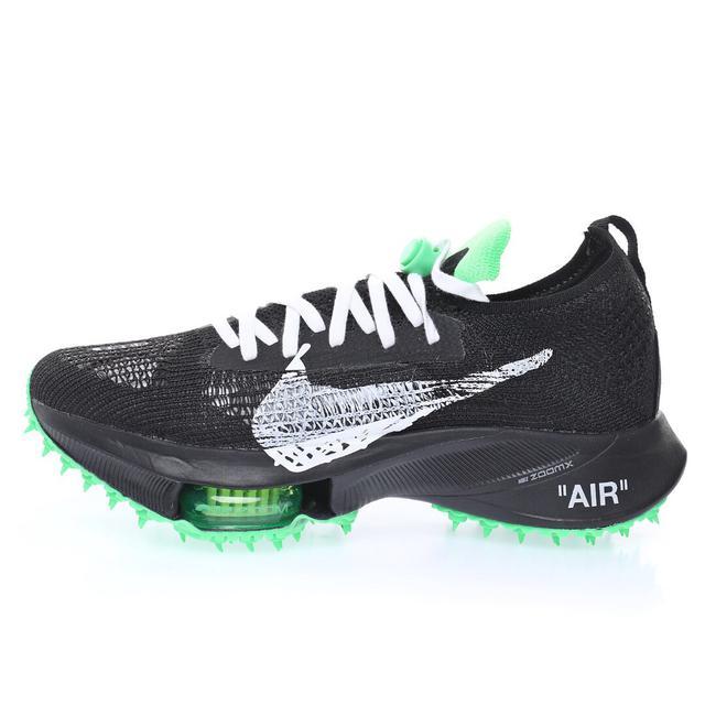 """Green""""競速馬拉松無系帶系列低幫輕量超跑運動氣墊慢跑鞋「黑螢光綠」CV0697-001"""